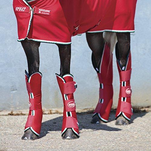 Horseware Amigo Travel Boots - Red/White - Transportgamaschen, Größe:Pony (S)