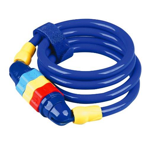 Profex Kinder Spiralschloss für Kinder, 100 cm ( Farblich sortiert)