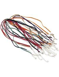 Ecloud Shop Lote 14 unid. 3mm Cuerda Cadena Terciopelo para collar