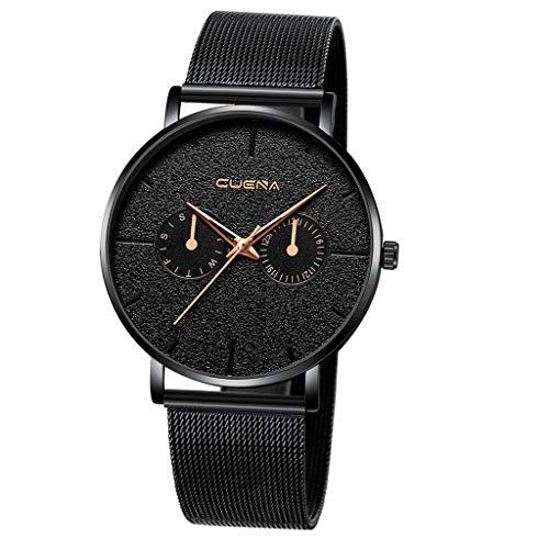 2020 Ultra flach Herren Damen Uhren Armbanduhr 40mm mit Mesh Armband Uhrenarmband 17 C,Einstellbar(Uhr Pusheen Uhr Uhr Jungen Tee Uhr lederarmband Uhr)