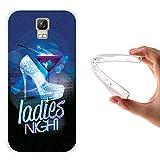 WoowCase Umi Rome Hülle, Handyhülle Silikon für [ Umi Rome ] Hohe Absätze, Diamant & Cocktail Handytasche Handy Cover Case Schutzhülle Flexible TPU - Transparent
