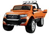 BSD Elektro Kinderauto Elektrisch Ride On Kinderfahrzeug Elektroauto Fernbedienung - Ford Ranger 4x4 - Orange Metallisch - LCD