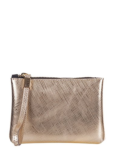GUM BY GIANNI CHIARINI BORSA PICCOLA POCHETTE LATTICE PLATINO, 4051.GUM