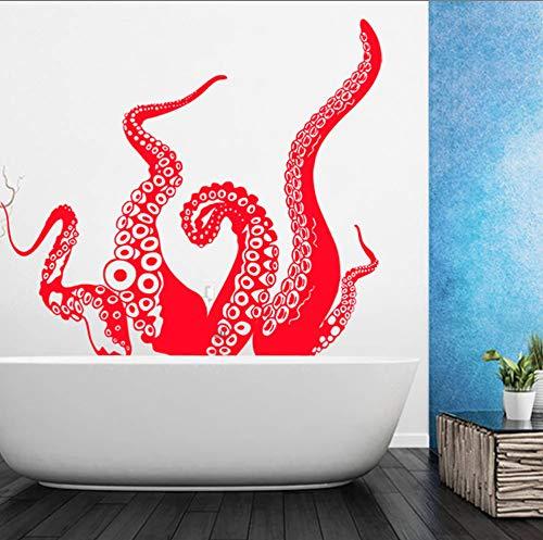 Octopus Tentacle Sea Creature Vinyl Super Große Wandaufkleber Für Badezimmer Wandbild Poster Wohnkultur Wohnzimmer Bad Decor Decals