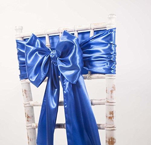 Satin-Schärpen und passende Tischläufer, Dekoration für Hochzeiten / Veranstaltungen / Partys, in verschiedenen Farben erhältlich Sash Royal Blue