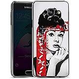 Samsung Galaxy A3 (2016) Housse Étui Protection Coque Audrey Hepburn Dessin Femme