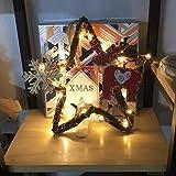 Ratán Decoración para Navidad de Colgante Retro de Navidad Adorno del Árbol de Navidad, exquisito y único adornos de árbol de Navidad