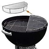 GFTIME Rete Griglie di Cottura in Acciaio INOX Parti di Ricambio per Weber 8836, Barbecue Griglia Accessori per 57cm Griglia Carbone