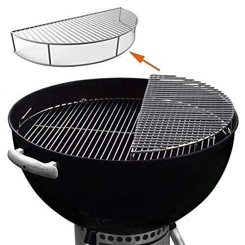 GFTIME BBQ Preservación del Calor Rejilla Parrilla Piezas de Repuesto Barbacoa Gas Niquelado Asado Accesorios para Weber 8836, se ajustan a las parrillas de carbón Parrilla Barbacoa de 57 cm
