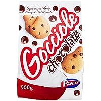 Pavesi Gocciole - Galletas Frollini con chocolate (500g) - 4 Paquetes de 500 g