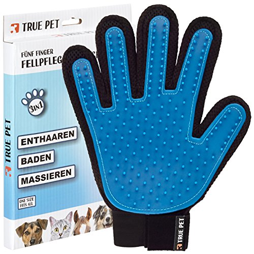 true-pet-3-in-1-fellpflege-handschuh-enthaaren-baden-massieren-hundeburste-katzenburste-fur-sensible