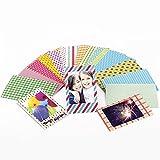 Polaroid Film Aufkleber Set mit 80 bunten verschiedenen Design Rahmen für Scrapbooking, Notizen und Nachrichten - 2x3 Zoll dekorative Rahmen für Sofortbild und Polaroid Kameras