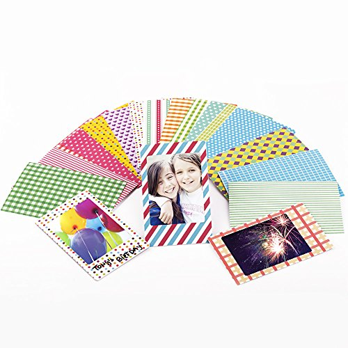 Preisvergleich Produktbild Polaroid Film Aufkleber Set mit 80 bunten verschiedenen Design Rahmen für Scrapbooking,  Notizen und Nachrichten - 2x3 Zoll dekorative Rahmen für Sofortbild und Polaroid Kameras