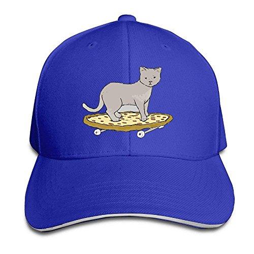 142a301195a051 Foshanshi Cat On Pizza Skateboard Sandwich Cap Snapback Hat Red
