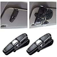 iBaste/_Brillenetui Auto Brillenhalterung Sonnenbrillenhalterung f/ür Sonnenblende im Auto PKW LKW KFZ Brillenablage Brillenhalter f/ürs Auto geeignet