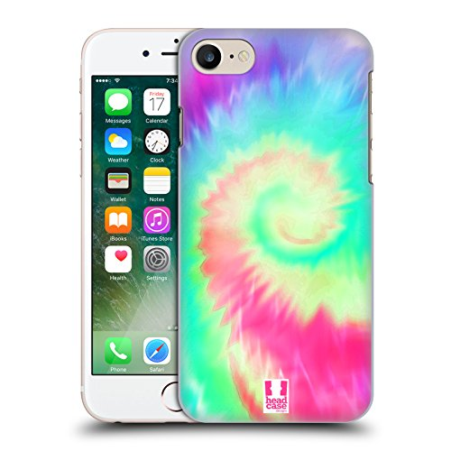 Head Case Designs Arcobaleno Tie Dye Cover Retro Rigida per Apple iPhone 7 / 8 Elica