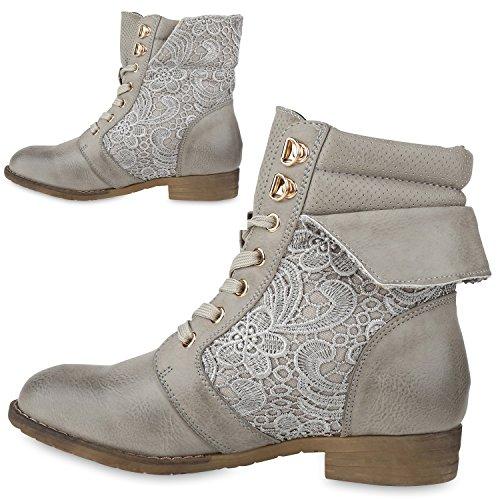 Stiefelparadies , bottines classiques femme Gris