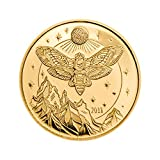 Coin Invest Trust 2018 Tansania 1500 Schilling PP Totenkopf-Falke Motte Goldmünze .9999