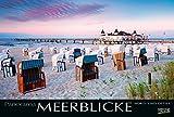 Meerblicke - Nord- und Ostsee 2019: Großer Foto-Wandkalender von der Küste und dem Meer in Deutschland. Edler schwarzer Hintergrund und Foliendeckblatt. PhotoArt Panorama Querformat: 58x39 cm.