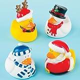 Lustige Badeenten Weihnachten für Kinder als kleines Geschenk zum Fest (4 Stück)