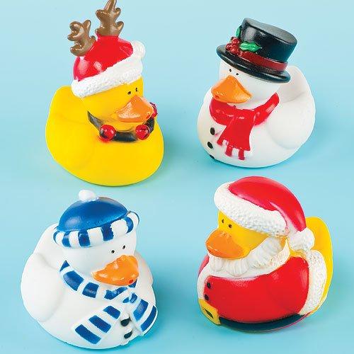 Baker Ross Funky Christmas Ducks Perfect Christmas Stocking Filler for Children (Pack of 4)