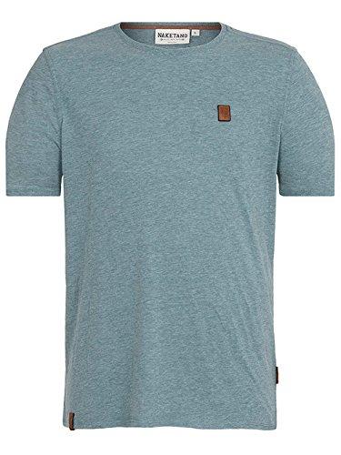 Naketano Male T-Shirt Italienischer Hengst VI stormy sea melange