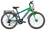 Kinderfahrrad 24 Zoll blau - Yazoo Devil 2.4 boy Jugendrad - Shimano Schaltung 21 Gänge, Licht, Gepäckträger