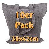 Recyclingtasche aus 100% recycelter Baumwolle Öko - Einkaufstasche robust mit