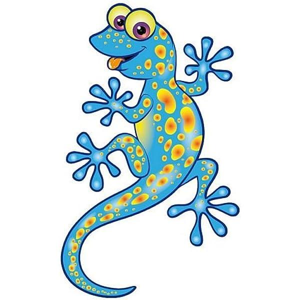 Fahnenmax Autoaufkleber Sticker Lizard Eidechse Gecko Blau Aufkleber Auto