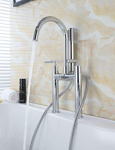 Ottone contemporaneo Fori doppia doppia croce maniglie vasca da bagno