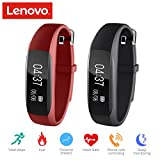 #10: Lenovo Fitness Tracker, Heart Rate Monitor, Sleep Monitor, Pedometer, Call Reminder,HW01- Bluetooth 4.2, IP65, 0.91 Inch OLED