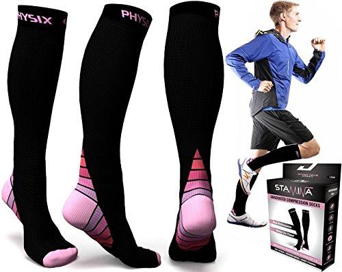 calcetines-de-la-compresion-para-hombres-y-mujeres-el-mejor-ajuste-atletico-graduado-impulso-resiste