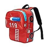 Moonwind zainetto dei bambini per i ragazzi ragazze impermeabile Sacchetto di scuola Libro elementare (Rosso Camion dei pompieri)