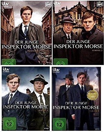 Der junge Inspektor Morse - Staffel / Season 1+2+3+4 im Set - Deutsche Originalware [9 DVDs]
