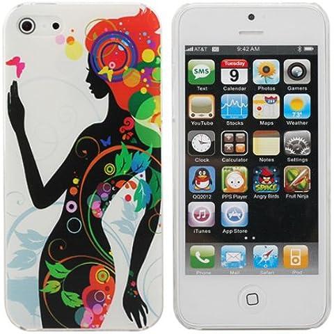 Hermoso patrón Lady Like Phantom cubierta del estuche rígido para el iPhone 5 5G.