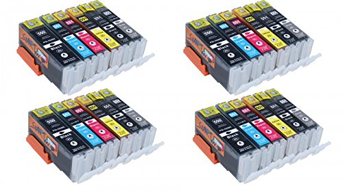 Start - 24 Cartuchos de tinta compatible con PGI-550XL CLI-551XL Alta Capacidad...