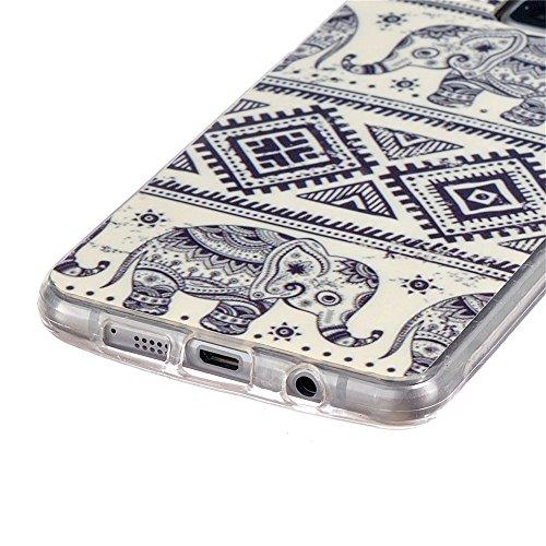 Voguecase® Pour Iphone SE, TPU Silicone Shell Housse Coque Étui Case Cover (Creux-cerfs de musique)+ Gratuit stylet l'écran aléatoire universelle éléphant