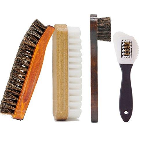Juego de Cepillos para Zapatos Limpiador de Zapatos Multifuncional para Limpieza y Cuidado de Zapatos, Botas, Asientos de Coche y Mueble de Piel
