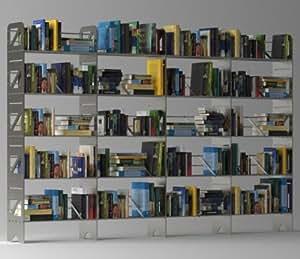 BOLTZ - BC20T - Bibliothèque Acier sur 20 niveaux - Extensible à l'infini - Garanti 10 ans - Anthracite