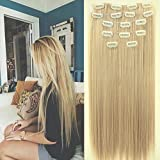 Neverland 24' Full Clip Head dans les extensions de cheveux Ombre droite Dip Dye 7pcs Light Brown #1