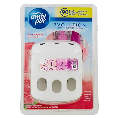 Ambi Pur 3Volution Fiori Eleganti Deodorante per Ambienti con Diffusore Elettrico, Starter Kit 21m