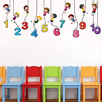 Luke and Lilly 1,2,3,4 Number Kids Wall Sticker(PVC Vinyl,60cm x160cm)