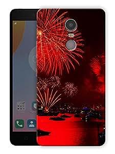 "Ulta Anda New Year Fireworks Printed Designer Mobile Back Cover For ""Lenovo K6 Note"" (3D, Matte Finish, Premium Quality, Protective Snap On Slim Hard Phone Case, Multi Color)"
