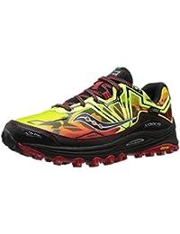 Saucony Xodus 6.0 - Zapatillas de trail-running unisex, color amarillo / rojo / negro