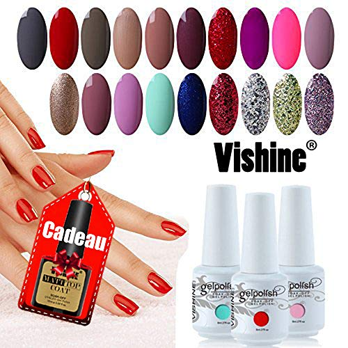 [298 Coloris disponible] Vishine Lot de 22 Flacons Vernis Gel...