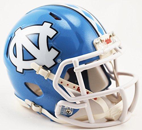 North Carolina Tar Heels Riddell Speed Mini Fußball Replica Helm (Carolina Heels Tar Helm North)