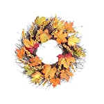 1452/5000 Corona di Natale Decorazione finestra raccolta giardino anello Rattan Maple Leaf Wreath Home Shopping Mall Porta appeso per la decorazione di casa