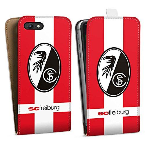 Apple iPhone X Silikon Hülle Case Schutzhülle SC Freiburg Fanartikel SCF Fussball Downflip Tasche weiß