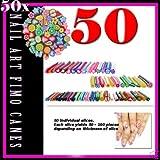 BOOLAVARD 50 Pcs/Set Nail Art Nail Art 3D Manicure Design Smiling Face Fimo Canes Sticks Rods Stickers