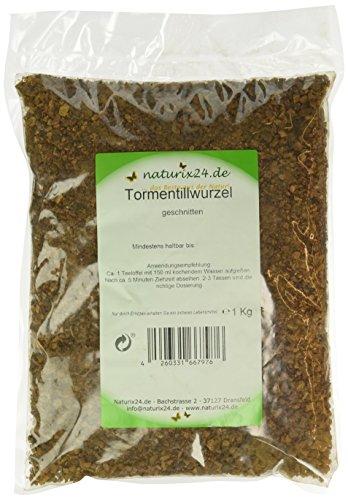 Naturix24 Tormentillwurzel geschnitten - Beutel, 1er Pack (1 x 1 kg)